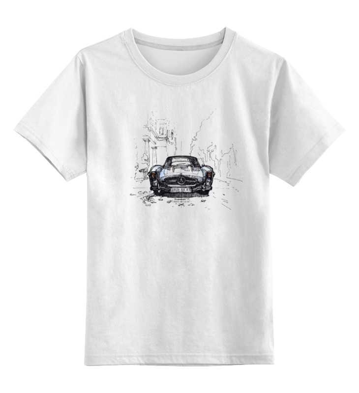 Детская футболка классическая унисекс Printio Mercedes-benz 300sl катушка зажигания для mercedes benz e320 s320 sl320 300 c230 c280