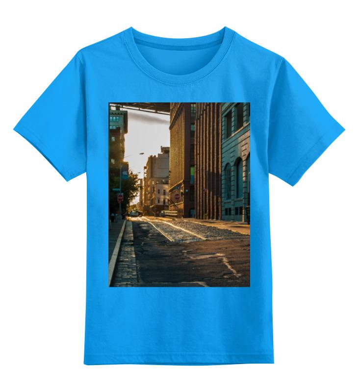 Детская футболка классическая унисекс Printio Evening brooklyn evening