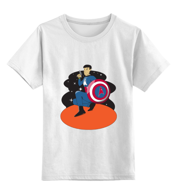 Детская футболка классическая унисекс Printio Капитан америка капитан детская и взрослая модульная мебель мдф