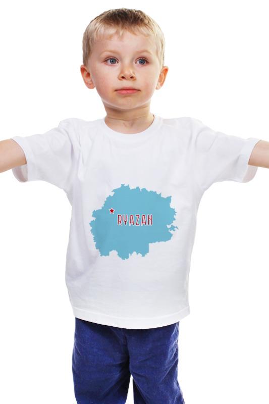 Детская футболка классическая унисекс Printio Рязанская область. рязань игольчатый этикет пистолет рязань
