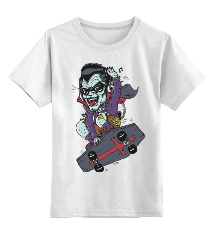Детская футболка классическая унисекс Printio Дракула на скейте детская футболка классическая унисекс printio дракула на скейте