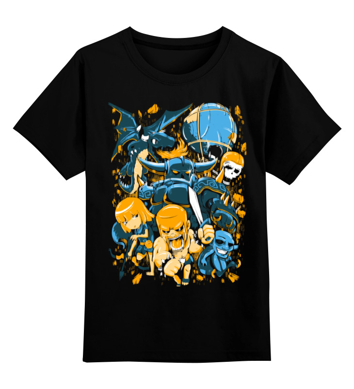 Детская футболка классическая унисекс Printio Clash royale