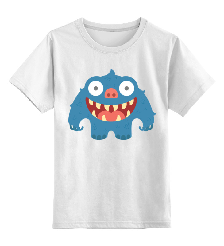 Детская футболка классическая унисекс Printio Зубастик валерий кастрючин рыжий зубастик