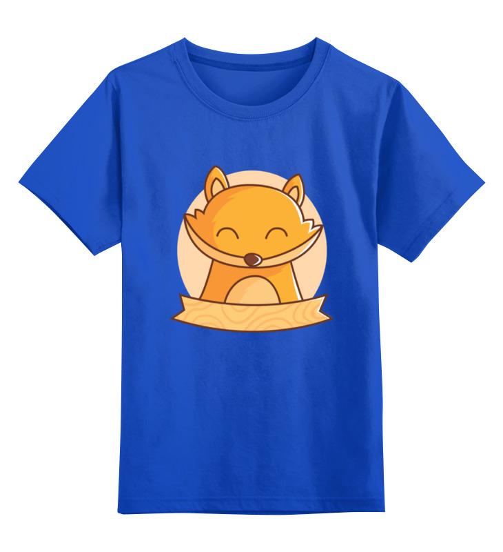 Детская футболка классическая унисекс Printio Спящий лисёнок цена и фото