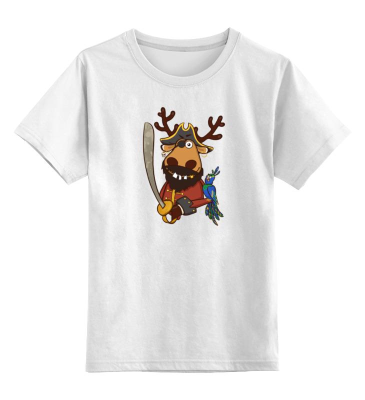 Детская футболка классическая унисекс Printio Подслушано принт олень пират сумка printio подслушано олень с тату
