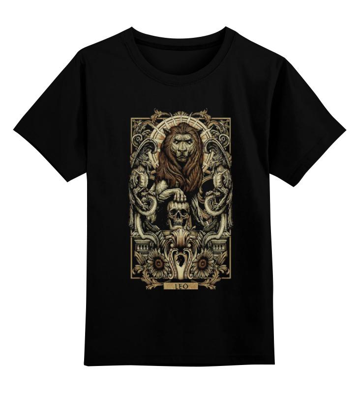 купить Детская футболка классическая унисекс Printio Лев (зодиак) недорого