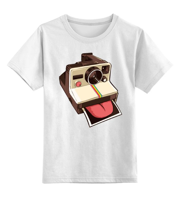Детская футболка классическая унисекс Printio Полароид с языком