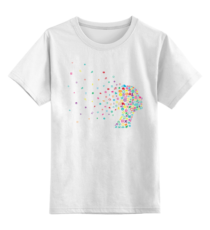 Детская футболка классическая унисекс Printio Человек из соцсетей сумка printio человек из соцсетей