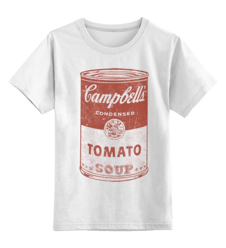 Детская футболка классическая унисекс Printio Банка с супом кэмпбелл свитшот унисекс с полной запечаткой printio банка с супом кэмпбелл