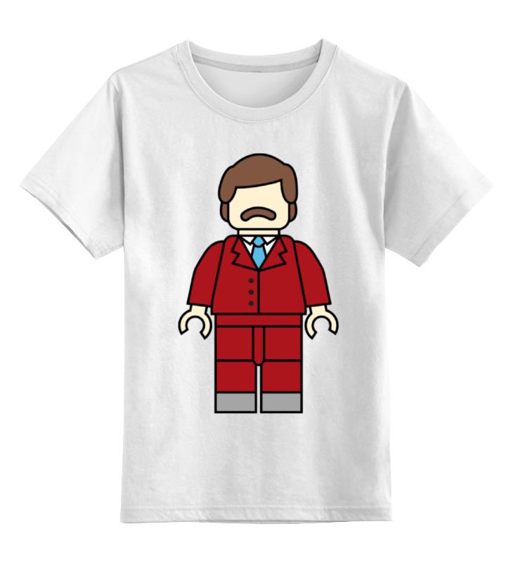 Детская футболка классическая унисекс Printio Рон бургунди детская футболка классическая унисекс printio рон бургунди