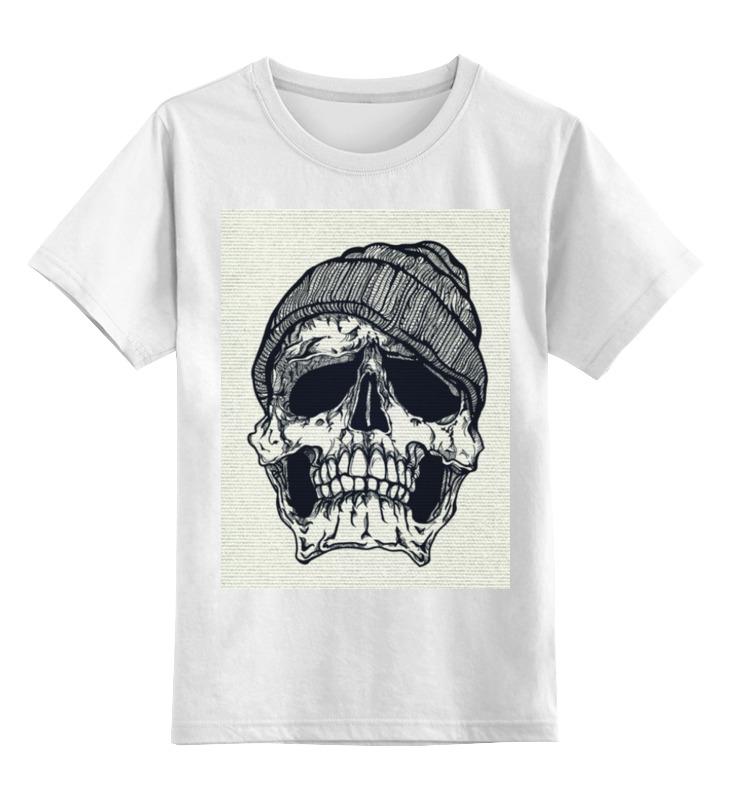 Детская футболка классическая унисекс Printio Череп в шапке детская футболка классическая унисекс printio я покажу тебе мир