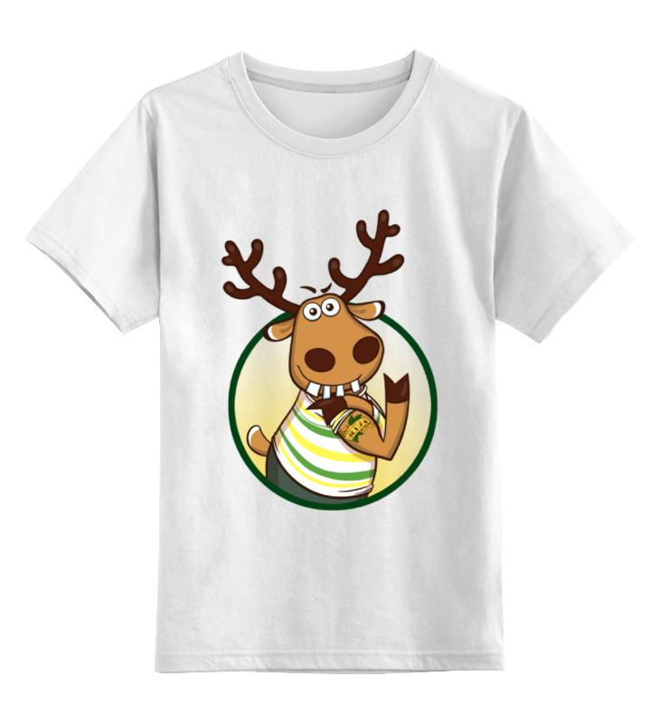 Детская футболка классическая унисекс Printio Подслушано олень с тату толстовка wearcraft premium унисекс printio подслушано олень с тату