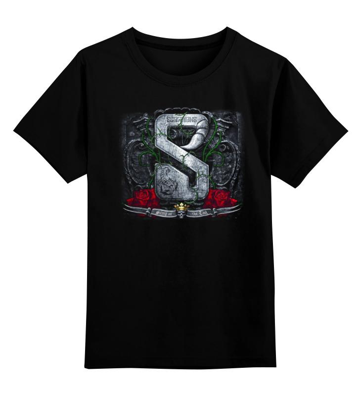 Детская футболка классическая унисекс Printio Scorpions band