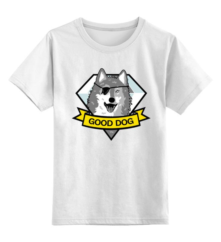 Детская футболка классическая унисекс Printio Хороший пес (metal gear) цена и фото