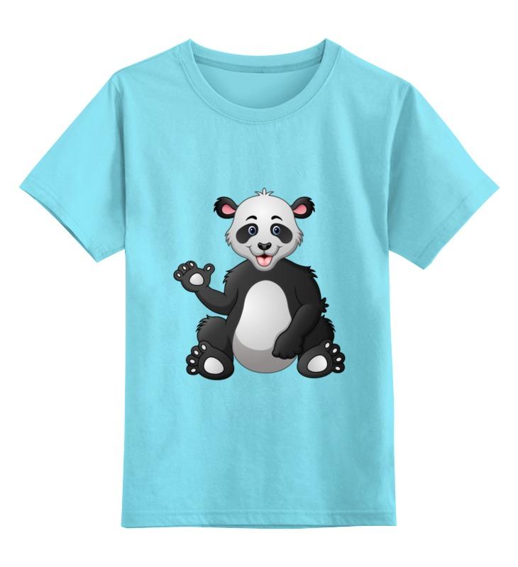 Детская футболка классическая унисекс Printio Привет,я панда! детская футболка классическая унисекс printio король панда
