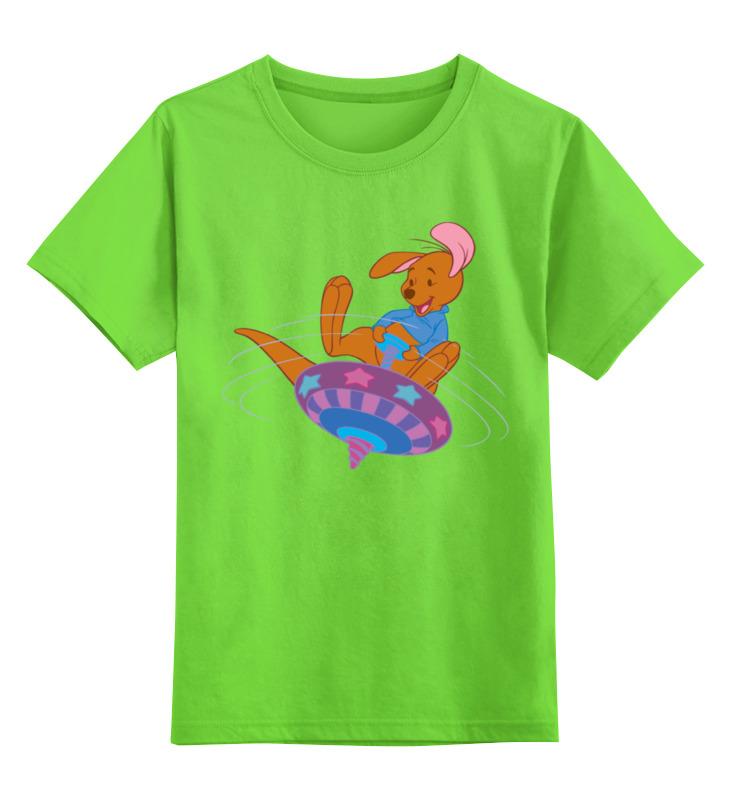 Детская футболка классическая унисекс Printio Мишка на волчке