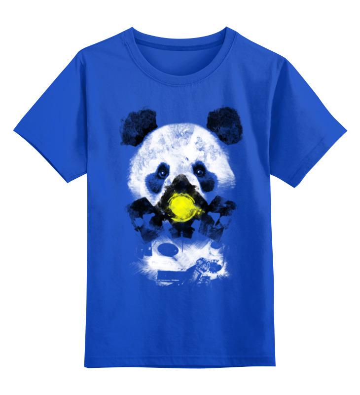 Детская футболка классическая унисекс Printio Панда в маске детская футболка классическая унисекс printio король панда