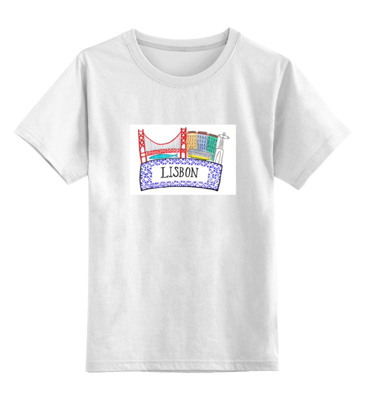 Детская футболка классическая унисекс Printio Lisbon lisbon 1 17500