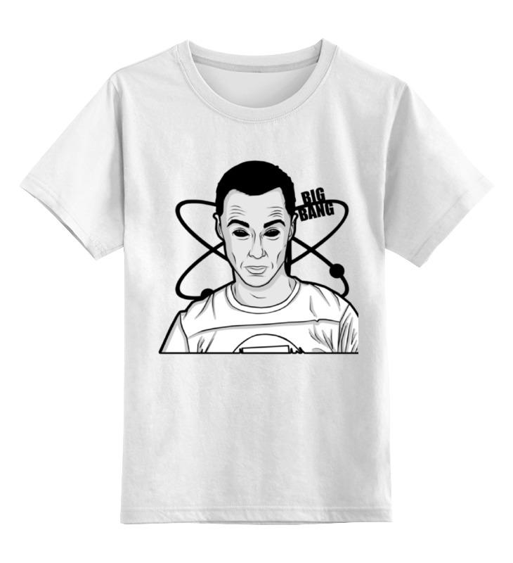Детская футболка классическая унисекс Printio Sheldon from big bang theory vogue natural wave black brown elegant medium side bang synthetic adiors wig for women