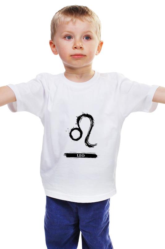 Детская футболка классическая унисекс Printio Знак зодиака лев детская футболка классическая унисекс printio лев