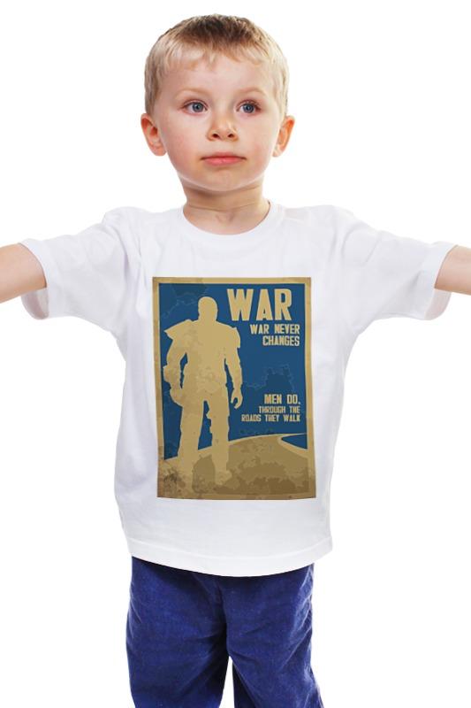 Детская футболка классическая унисекс Printio Fallout - war never changes майка классическая printio война никогда не меняется
