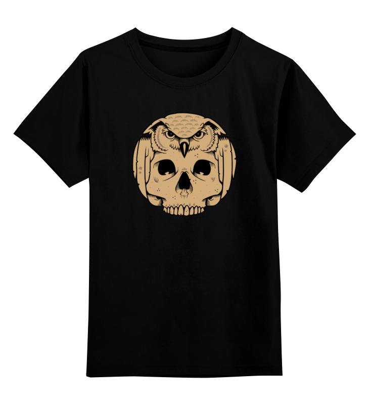 Детская футболка классическая унисекс Printio Owl scull / сова и череп детская футболка классическая унисекс printio owl scull сова и череп