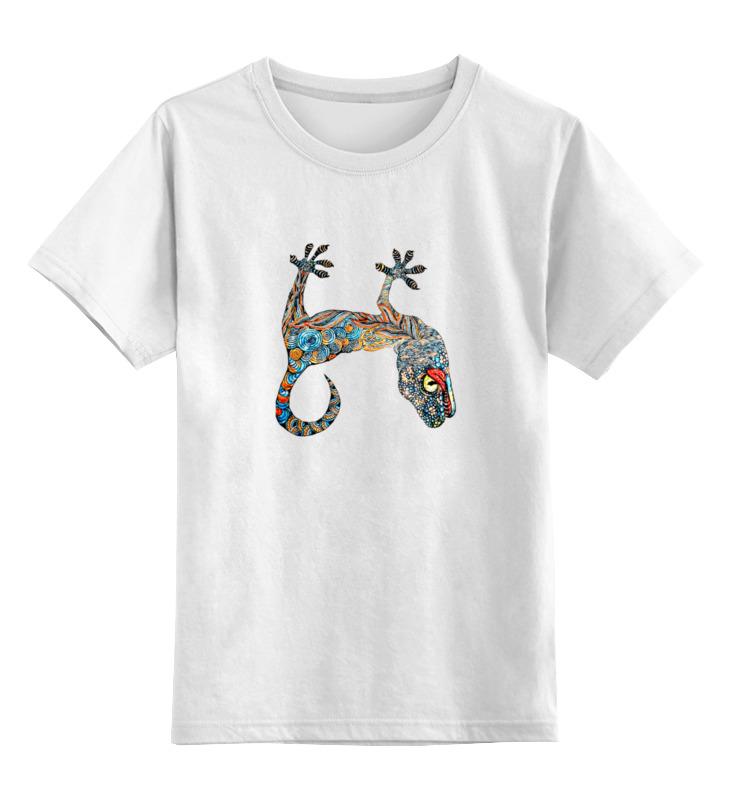 Детская футболка классическая унисекс Printio Яркий геккон геккон