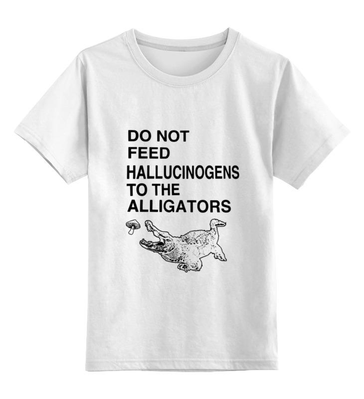 Детская футболка классическая унисекс Printio Do not feed hallucinogens to the alligators