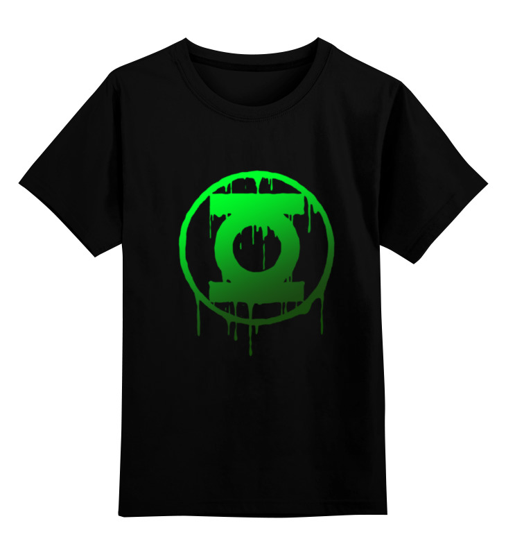 Детская футболка классическая унисекс Printio Зеленый фонарь gangxun зеленый цвет