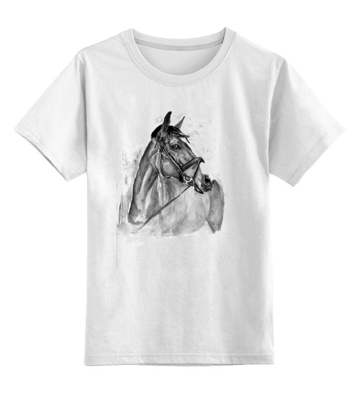 Детская футболка классическая унисекс Printio с новым годом лошади disney гирлянда детская на люверсах с новым годом тачки 198 см