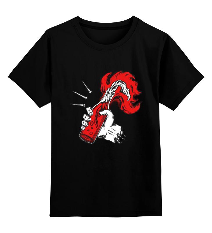 Детская футболка классическая унисекс Printio Коктейль молотова футболка wearcraft premium slim fit printio коктейль молотова
