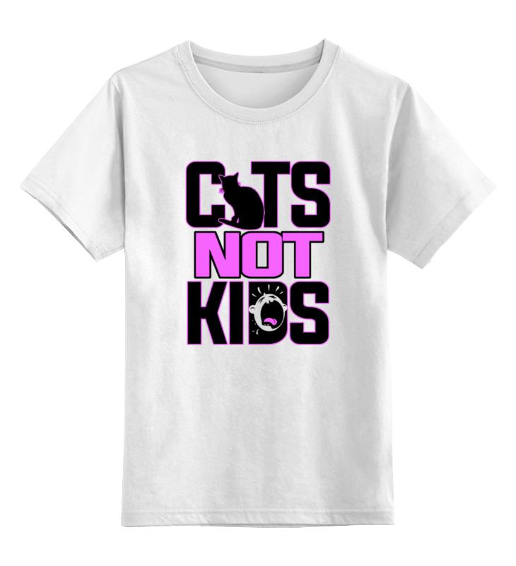 Детская футболка классическая унисекс Printio Кошки не дети футболка для беременных printio кошки не дети