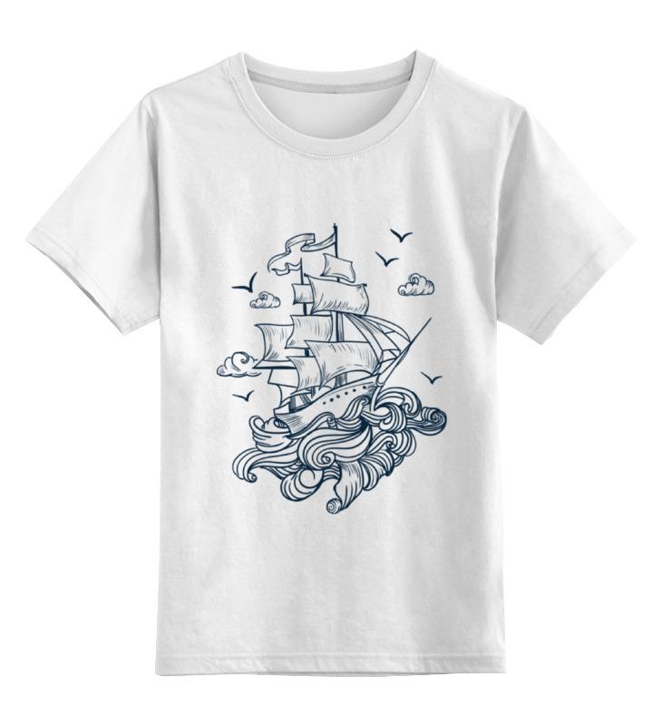 Детская футболка классическая унисекс Printio Летучий голландец футболка wearcraft premium slim fit printio летучий голландец