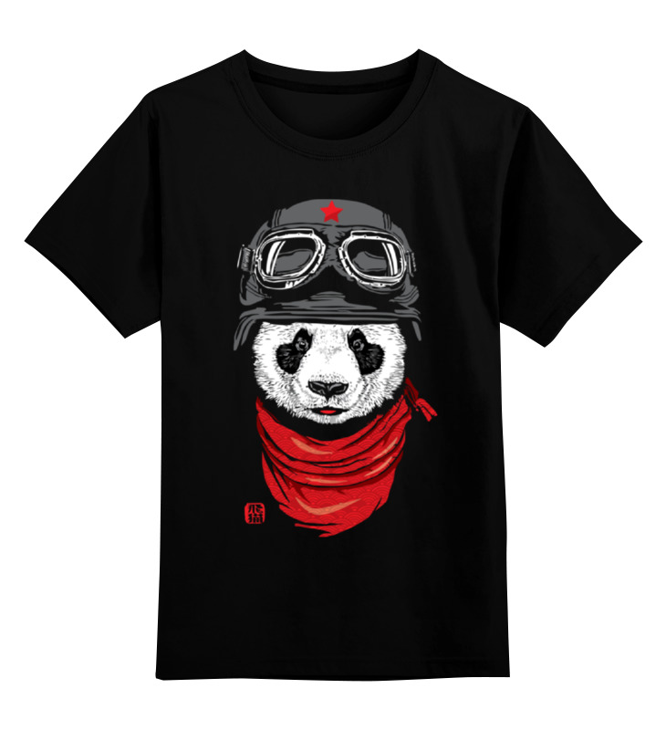 Детская футболка классическая унисекс Printio Панда (panda) детская футболка классическая унисекс printio красная панда