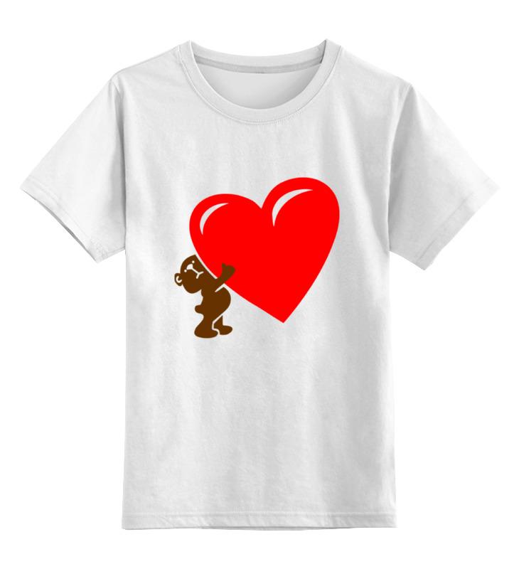 Детская футболка классическая унисекс Printio Bear heart oc 05 heart shape cute bear patterns nail art diy stickers multicolored