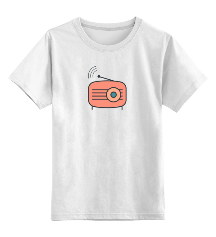 Детская футболка классическая унисекс Printio Радио билеты дискотеку детского радио