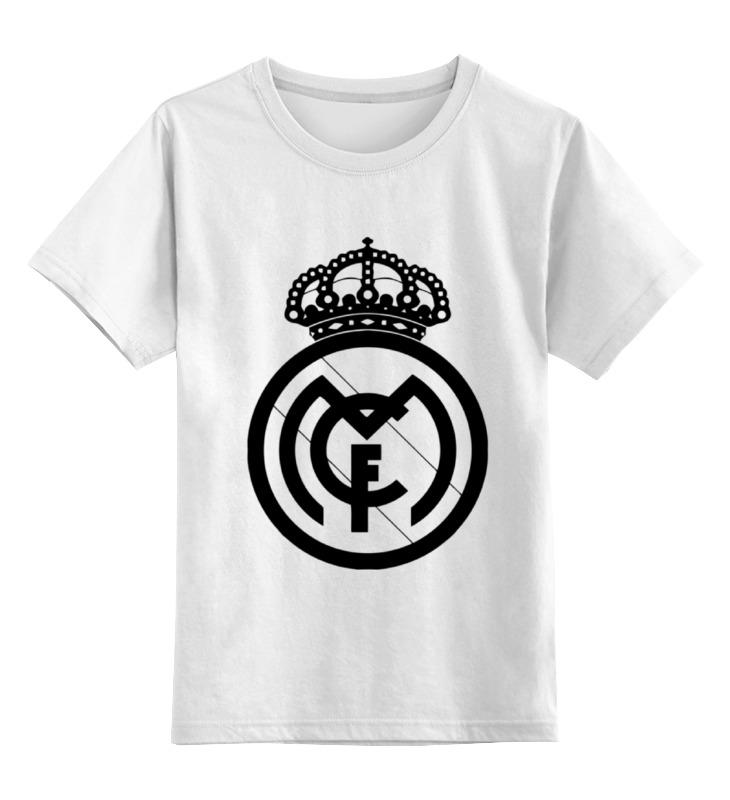 Детская футболка классическая унисекс Printio Real madrid (реал мадрид) футболка классическая printio real madrid