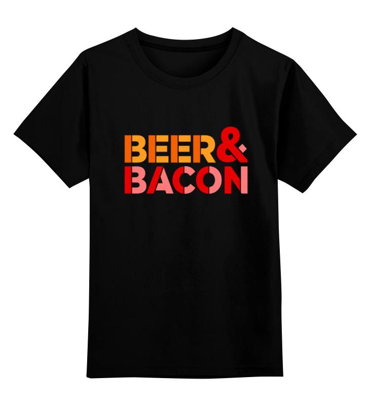 Детская футболка классическая унисекс Printio Пиво и бекон цена и фото