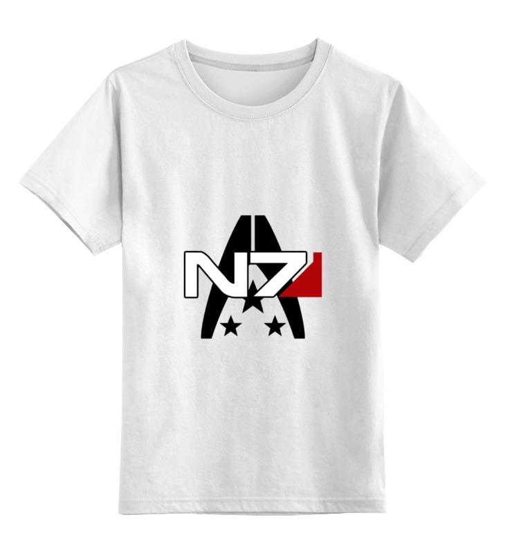 Детская футболка классическая унисекс Printio Mass effect n7