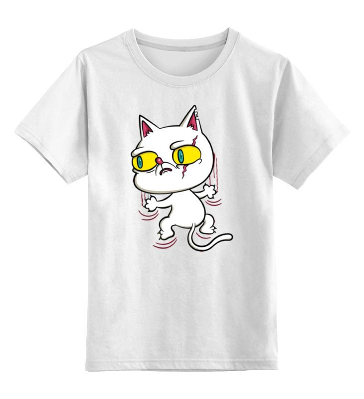 Детская футболка классическая унисекс Printio Белый кот детская футболка классическая унисекс printio абстрактный кот