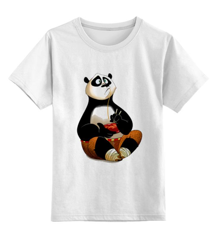 Детская футболка классическая унисекс Printio Кунг фу панда цена и фото