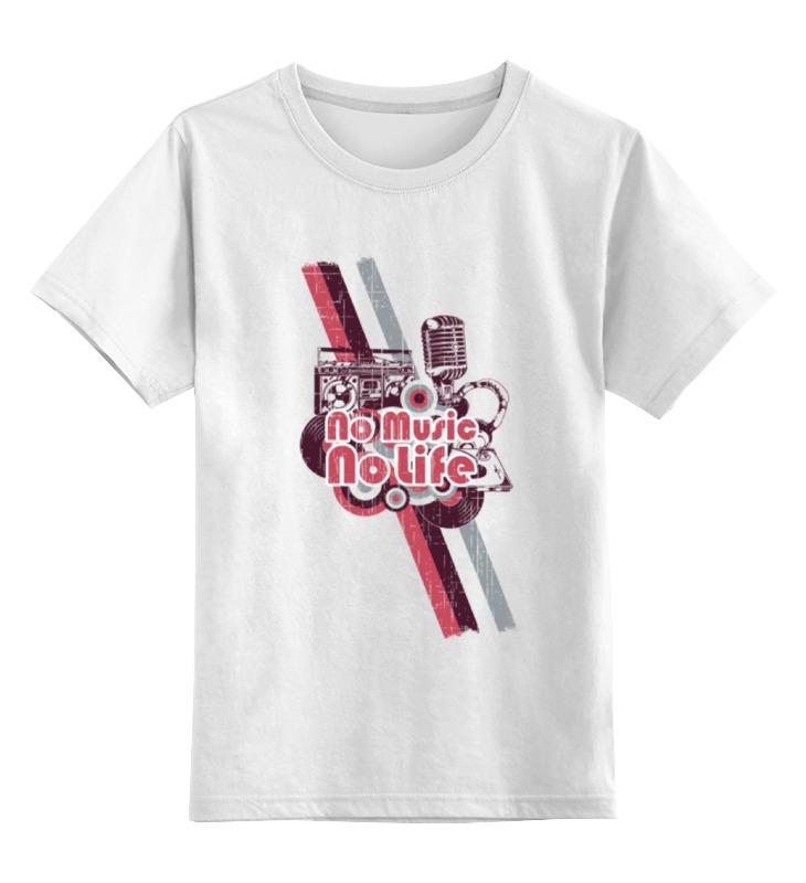 Детская футболка классическая унисекс Printio Music my life сумка printio music my life
