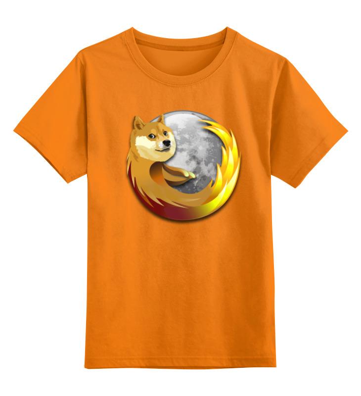 цена на Детская футболка классическая унисекс Printio Doge firefox