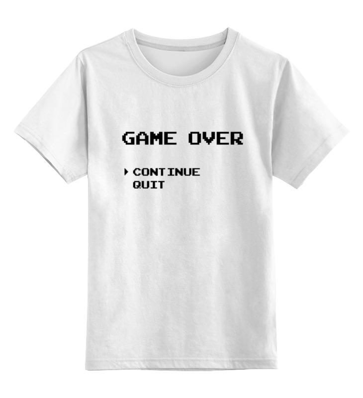 Детская футболка классическая унисекс Printio Конец игры (game over) детская футболка классическая унисекс printio конец игры game over