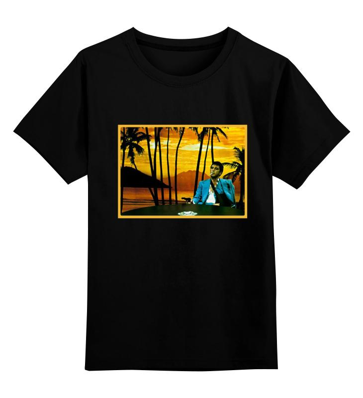Детская футболка классическая унисекс Printio Лицо со шрамом детская футболка классическая унисекс printio тони монтана лицо со шрамом