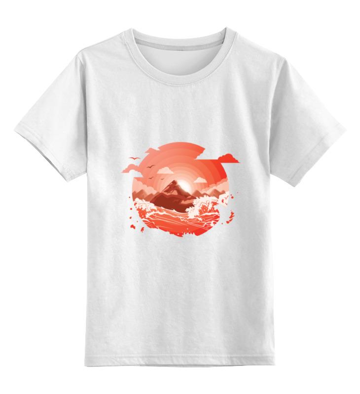 Детская футболка классическая унисекс Printio Красный рассвет над горами футболка рассвет