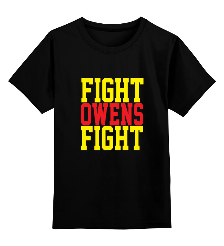 Детская футболка классическая унисекс Printio Fight owens fight (wwe) wwe рей мистерио маска купить в москве