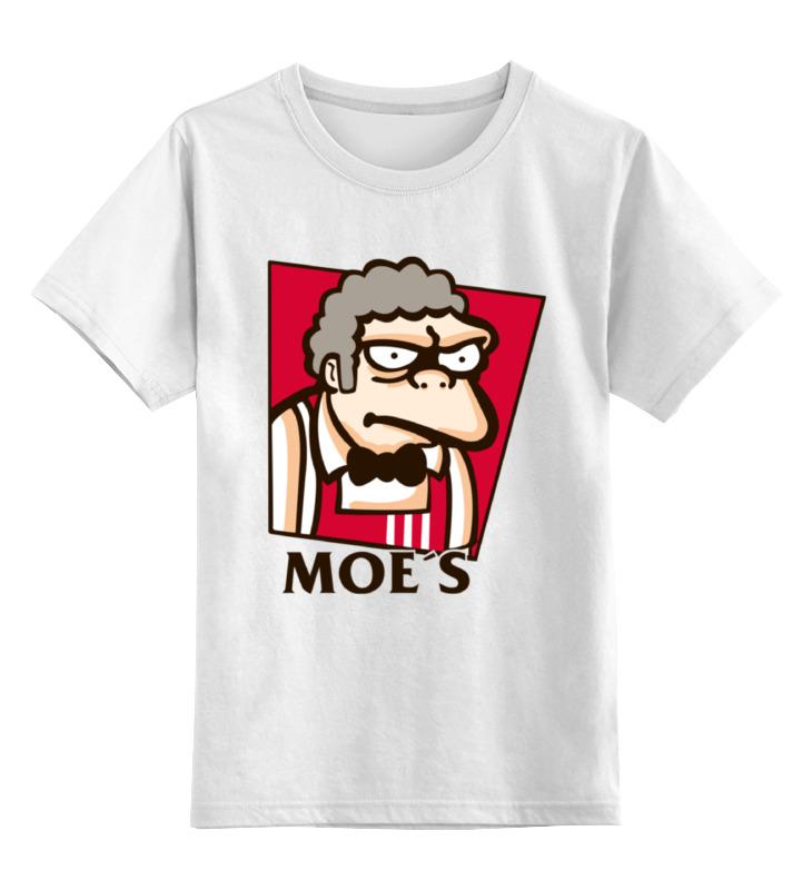 Детская футболка классическая унисекс Printio Мо (симпсоны) футболка moe футболка