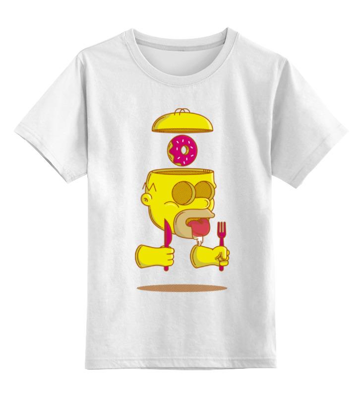 Детская футболка классическая унисекс Printio Гомер симпсон (homer simpson) детская футболка классическая унисекс printio гомер симпсон homer simpson