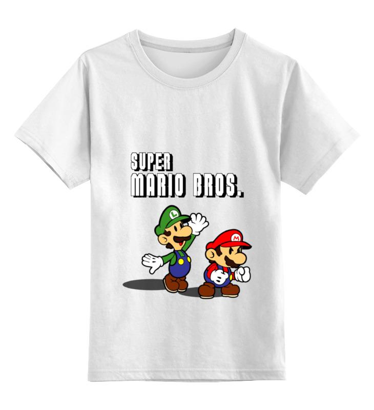 Детская футболка классическая унисекс Printio Super mario bros. цена